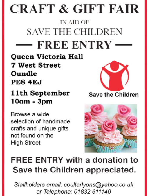 Charity Craft & Gift Fair In Aid Of Save the Children
